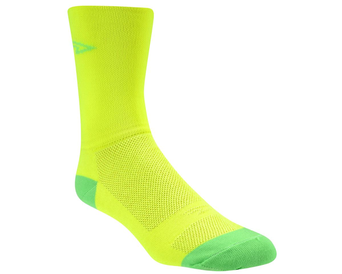 Image 2 for DeFeet Aireator Hi Top Sock (Yellow/Green) (XL)