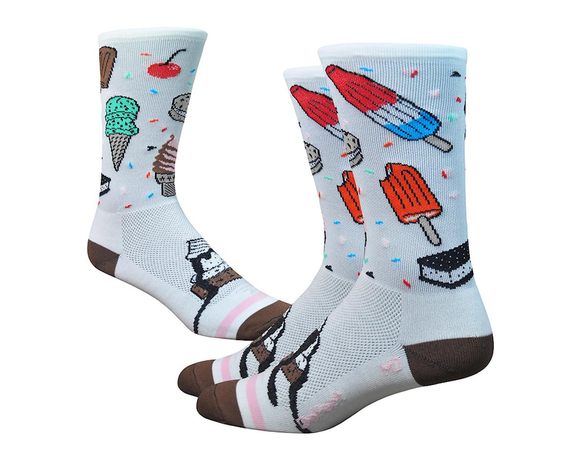 "DeFeet Aireator 6"" iSCREAM (White/Brown/Pink)"