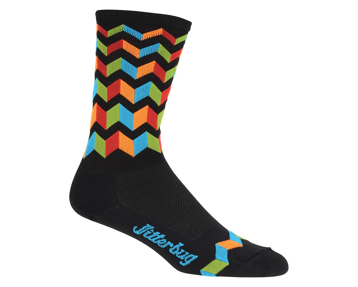 "DeFeet Hi Rouleur Aireator 6"" Jitter Bug Sock (Black/Orange) (L)"