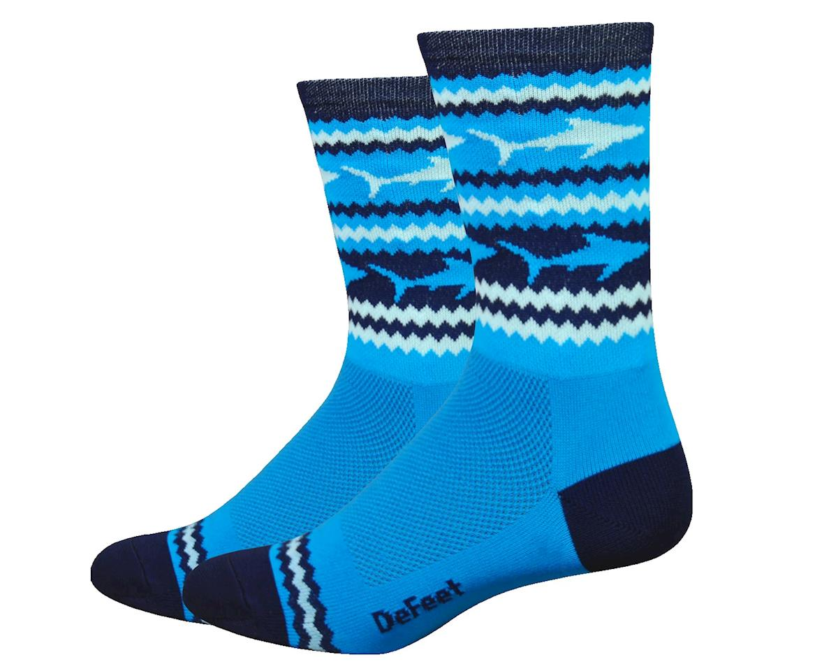 "DeFeet Aireator 6"" Socks (Blue/White) (L)"