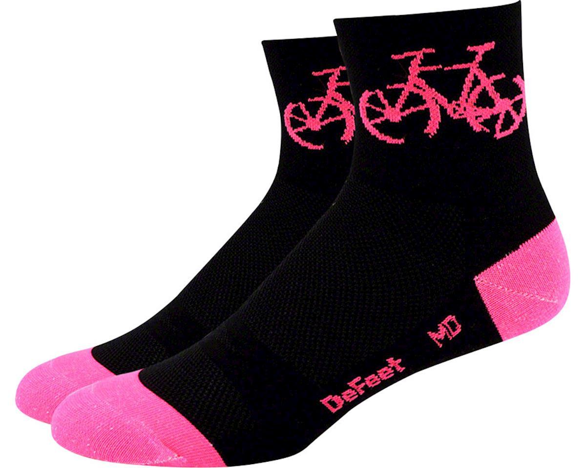 "Aireator Women's 3"" Townee Sock (Black/Flamingo Pink)"