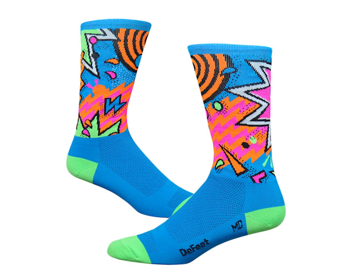 "DeFeet DeFeet, Aireator 6"" , Socks, Shazam, Blue/Green, L"