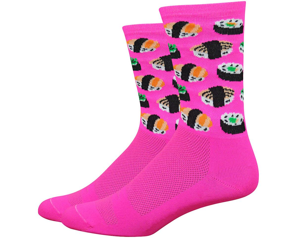 "DeFeet Aireator 6"" Sushi Socks (Pink) (XL)"