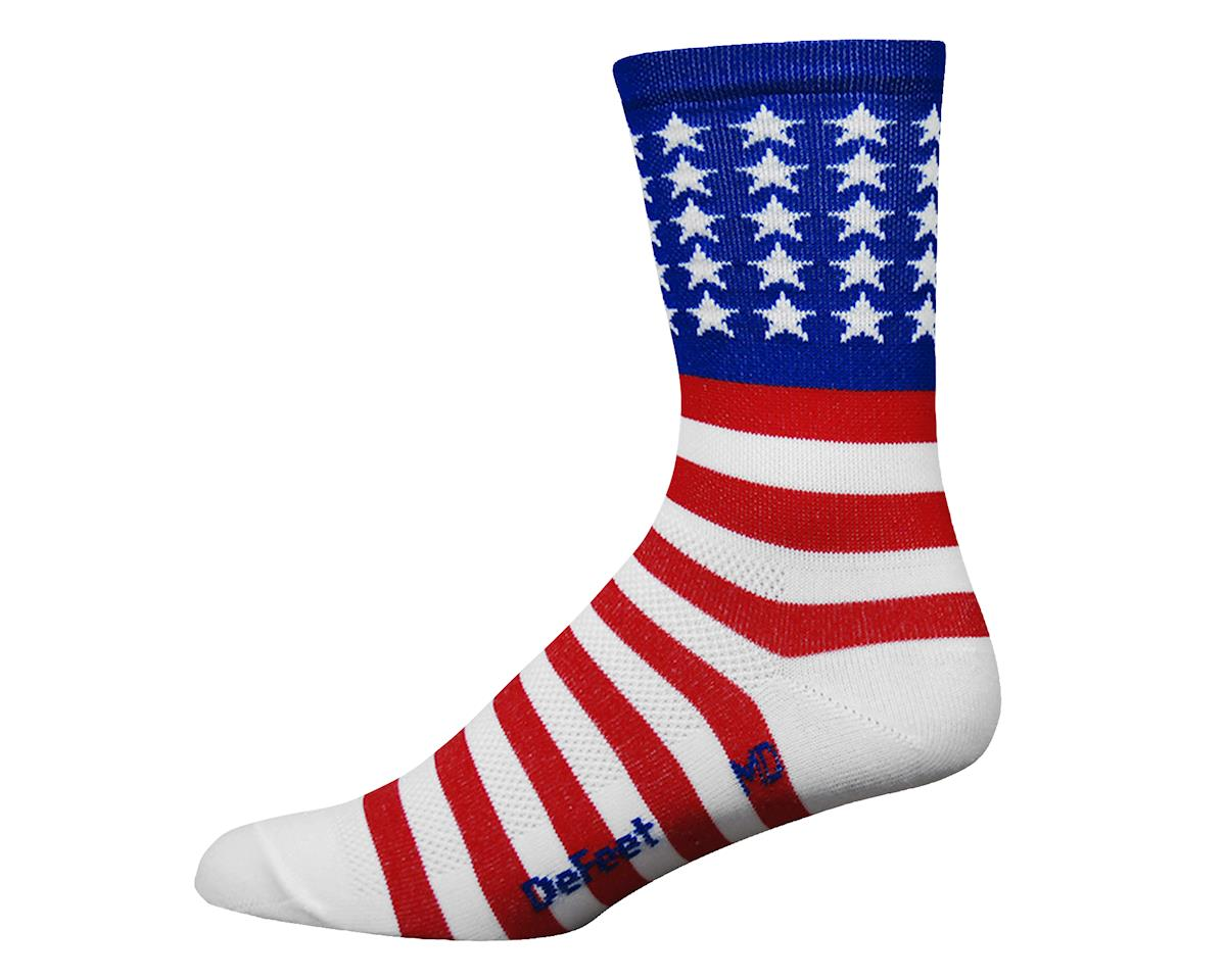 """DeFeet Aireator 5"""" USA Sock (Red/White/Blue) (L)"""