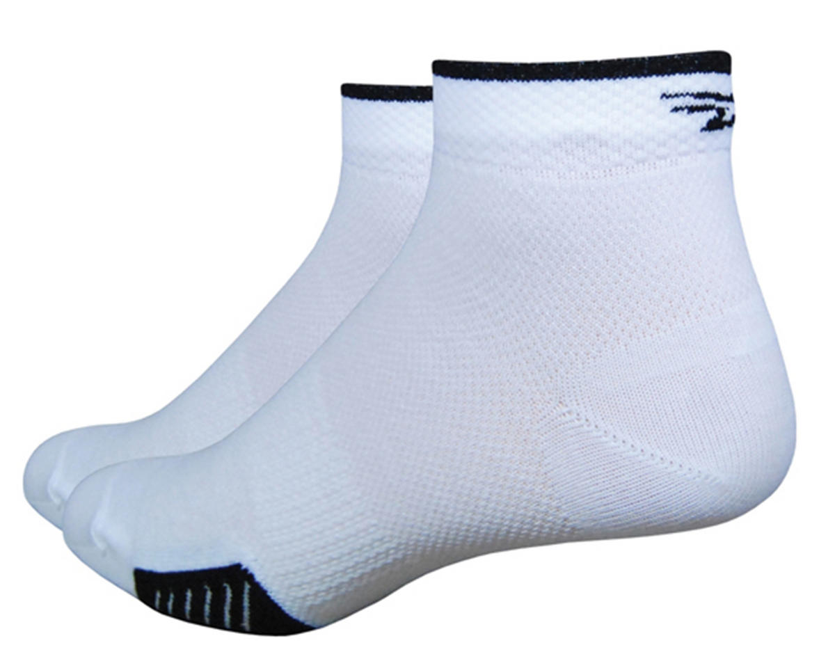 "DeFeet Cyclismo 1"" Low Cycling Socks (White/Black) (S)"