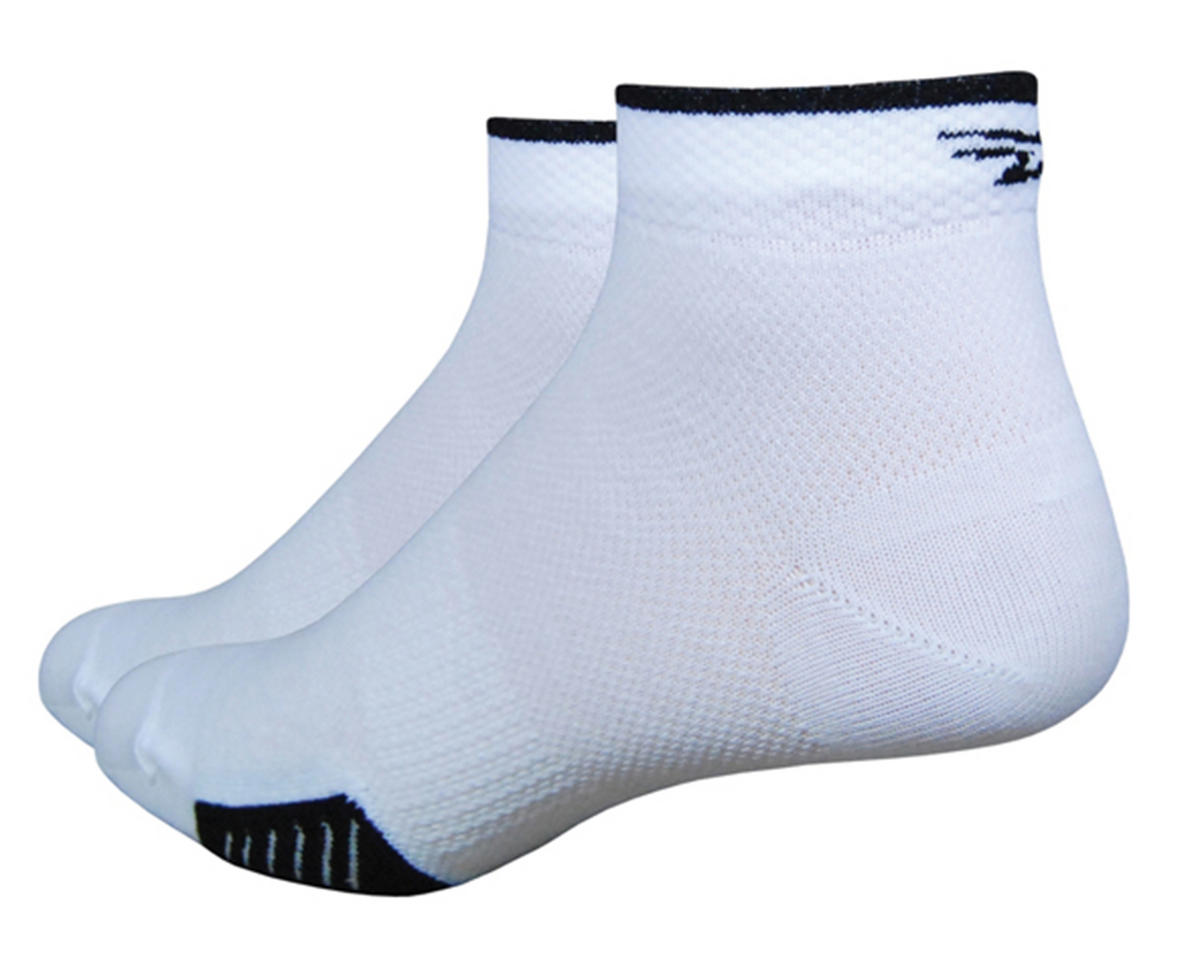 "DeFeet Cyclismo 1"" Low Cycling Socks (White/Black) (XL)"
