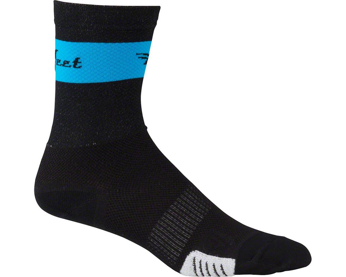 DeFeet Cyclismo Sock (Black/Blue Stripe) (S)