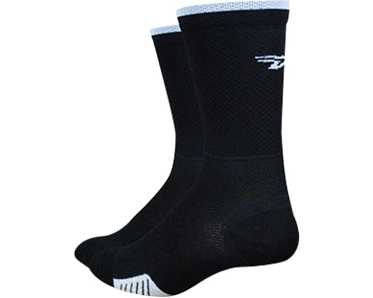 "DeFeet Cyclismo 5"" Sock (Black/White Stripe) (XL)"