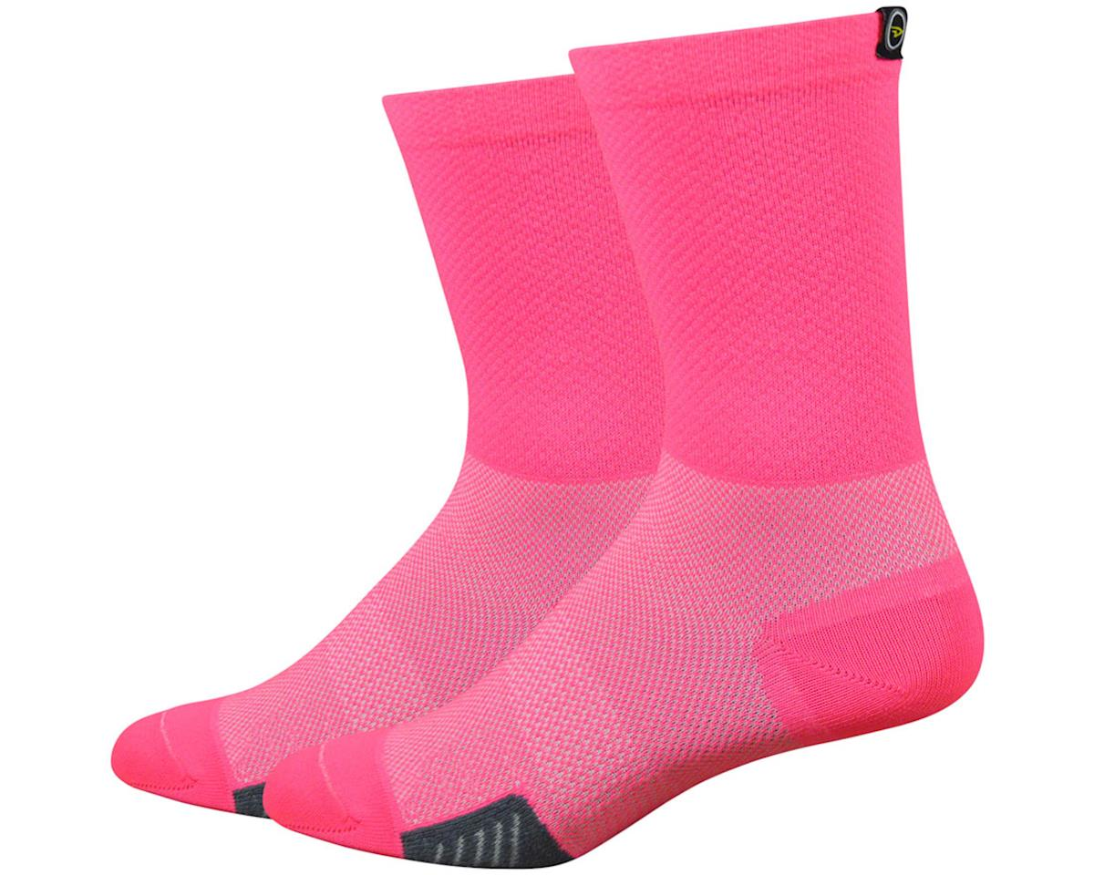 "DeFeet Cyclismo 5"" Sock (Flamingo Pink) (L)"