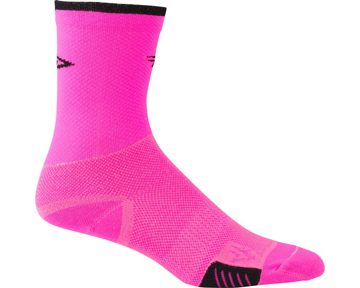 DeFeet Cyclismo Sock (Pink/Black Stripe) (XL)