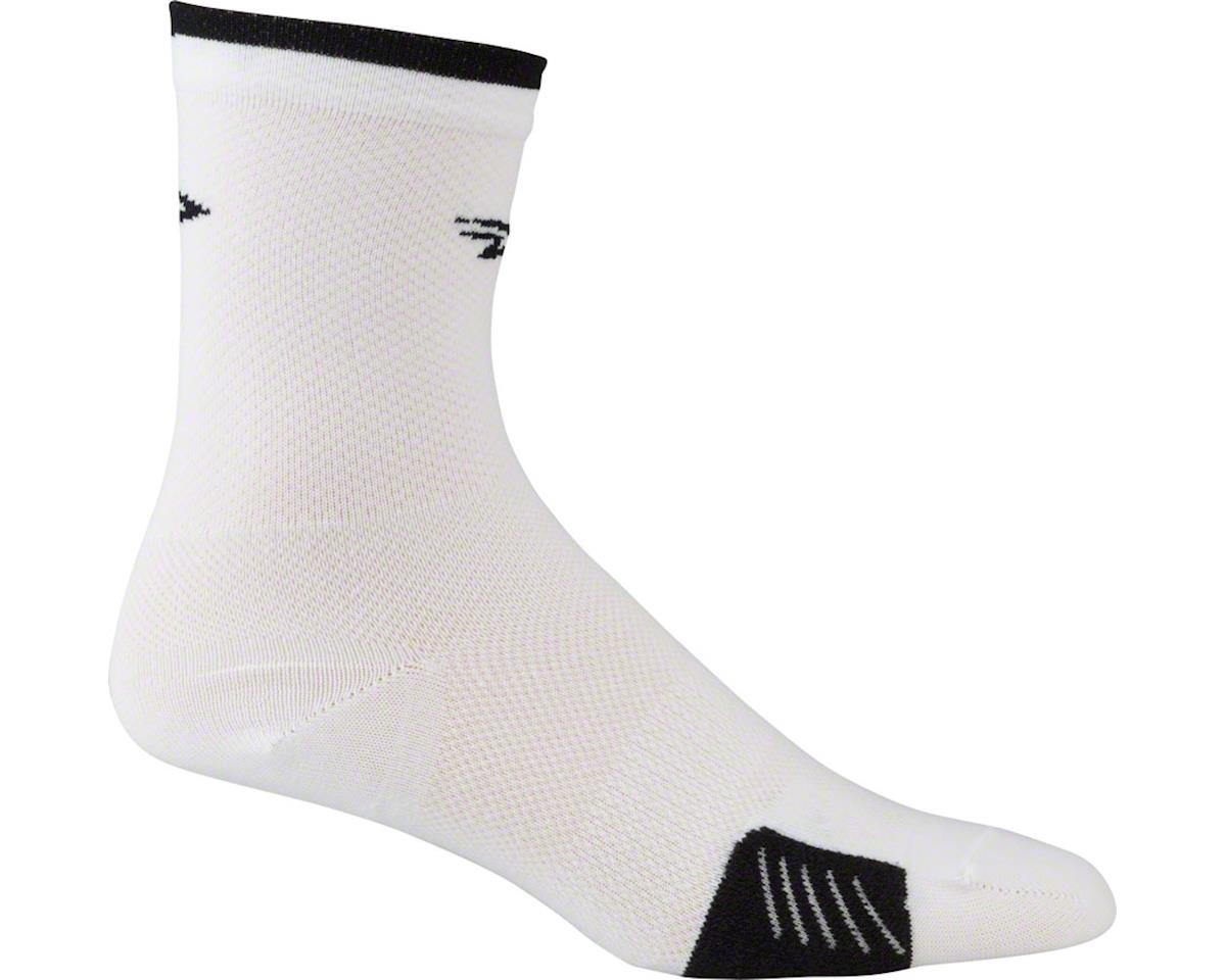 DeFeet Cyclismo Sock (White/Black Stripe) (XL)