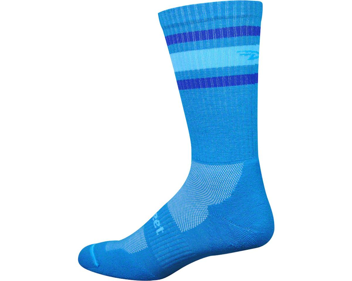 DeFeet D-Evo Crew Sock (Process Blue/Blue Stripes) (S)