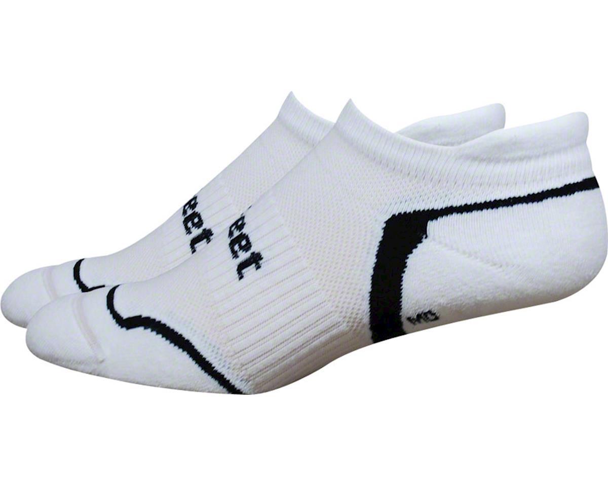 DeFeet D-Evo Tabby Sock (White/Black) (M)