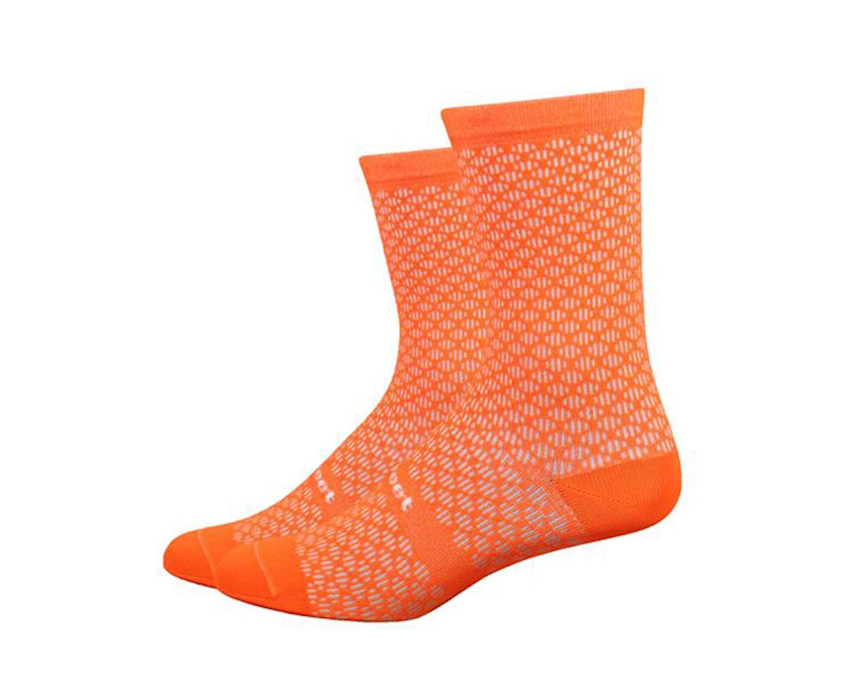 DeFeet Evo Mont Ventoux Socks (Hi-Vis Orange) (M)