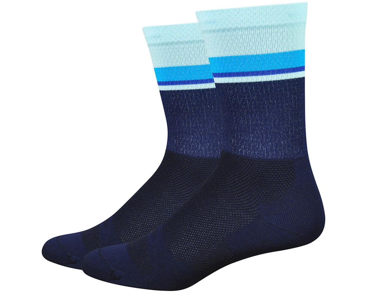 "DeFeet Levitator Lite 6"" Sock (Navy/Light Blue) (XL)"