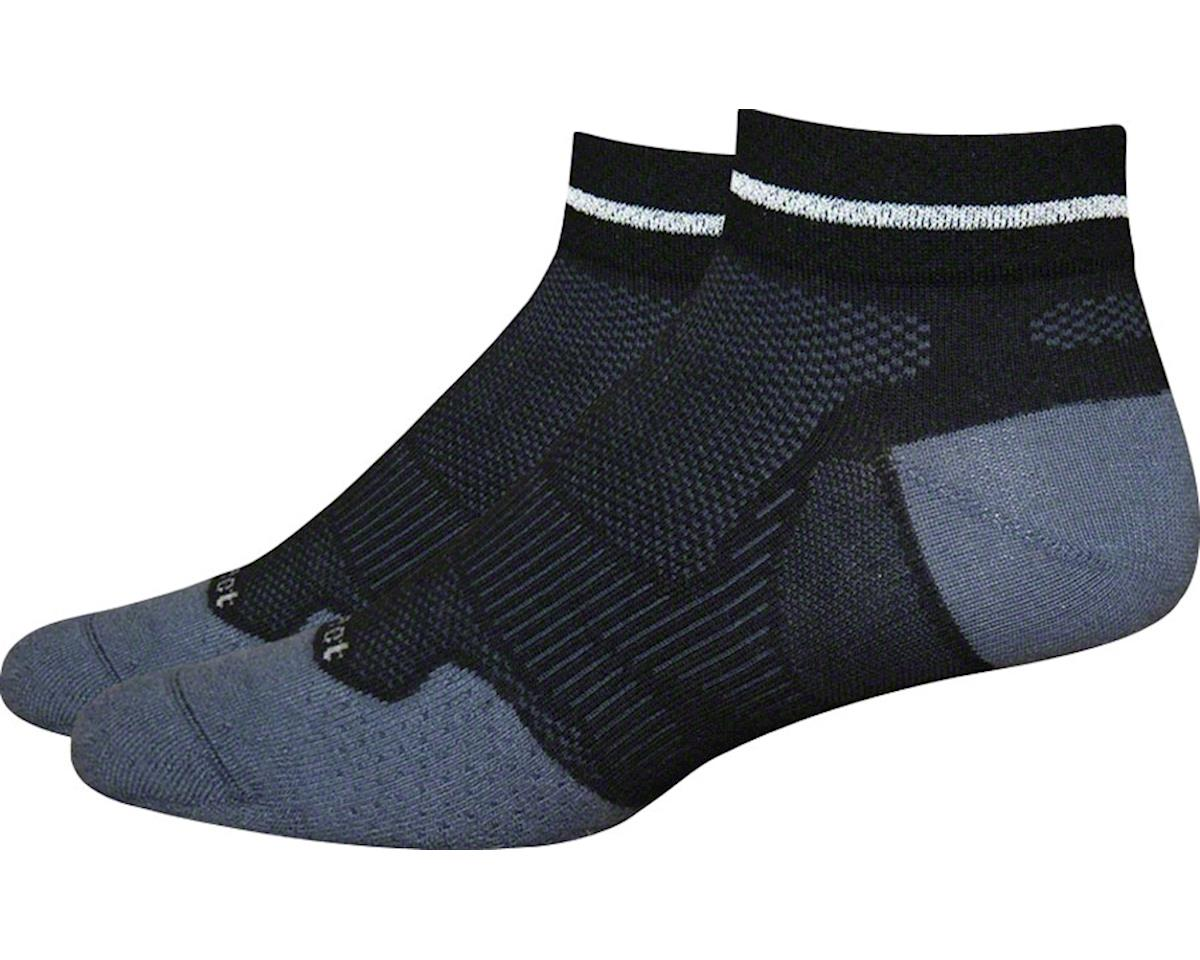 DeFeet Meta Reflector Sock: Black/Graphite SM