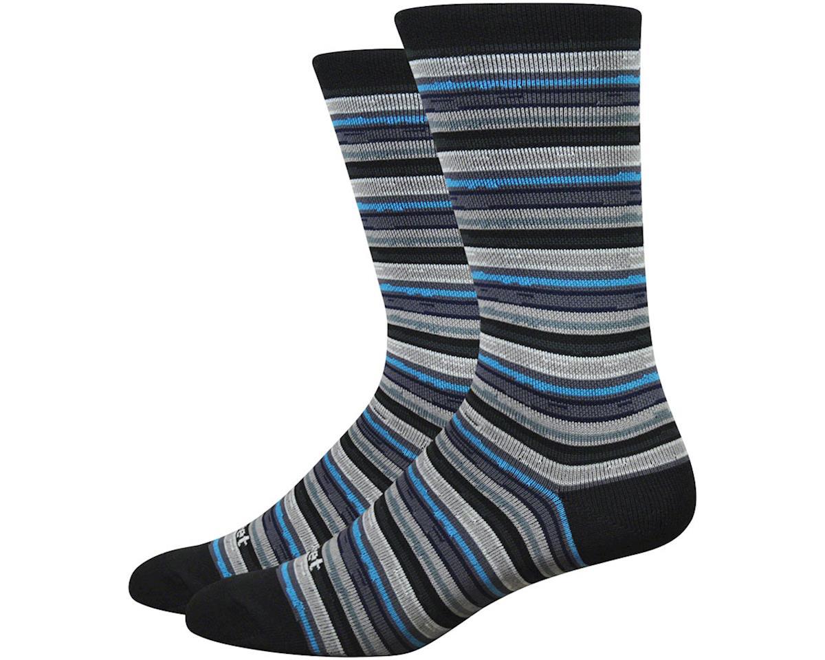 "DeFeet Mondo 6"" Spectrum Socks (Black) (XL)"