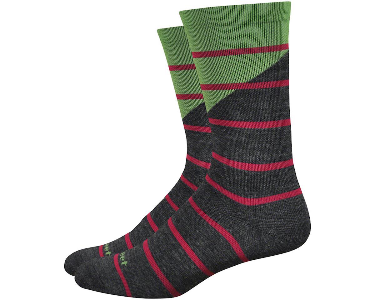 """DeFeet Mondo Wool 7"""" Tieon Socks (Black) (L)"""