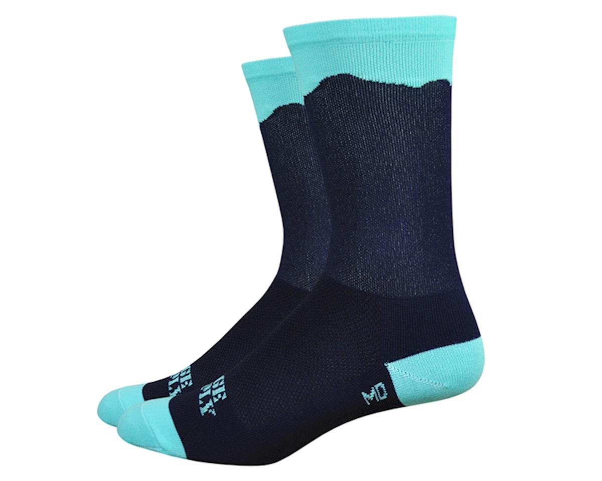 "DeFeet Aireator 6"" Double Gap socks, black/blue 7-8"