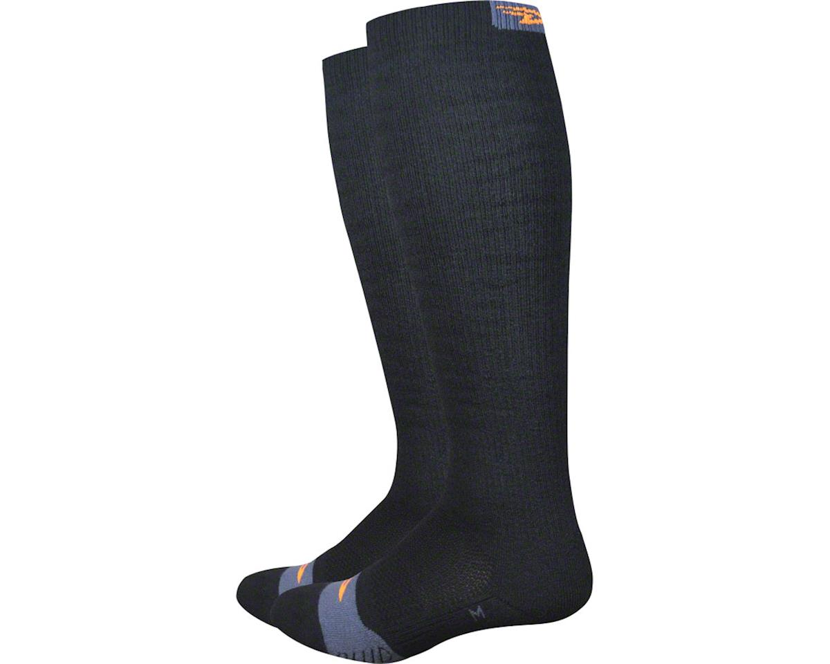 DeFeet Thermeator Knee High Sock (Black/Orange D-Logo)