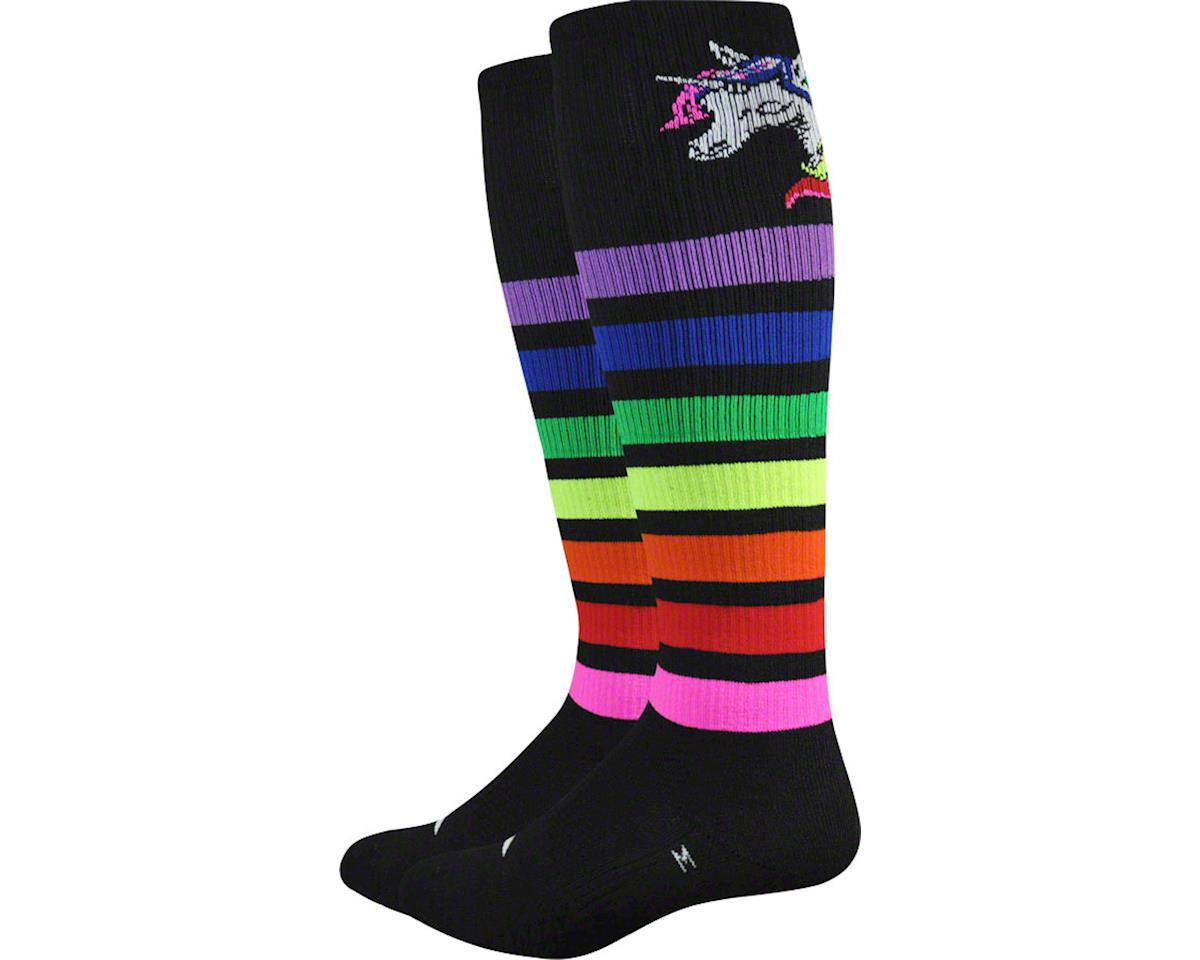 DeFeet Thermeator Knee High Mystic Sock (Black/Multi Stripes) (L)