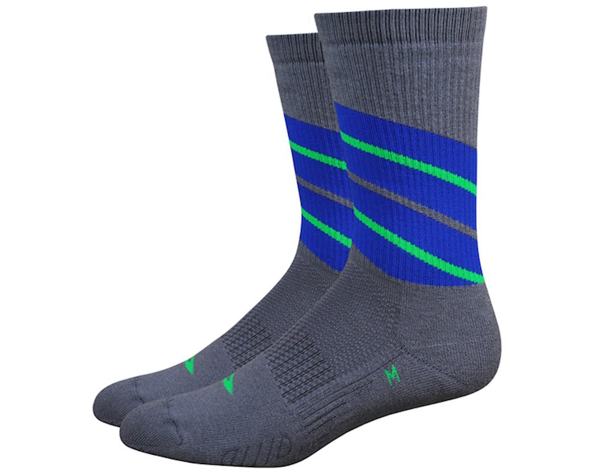 "DeFeet Thermeator 6"" Twister Socks (Graphite/Blue) (L)"