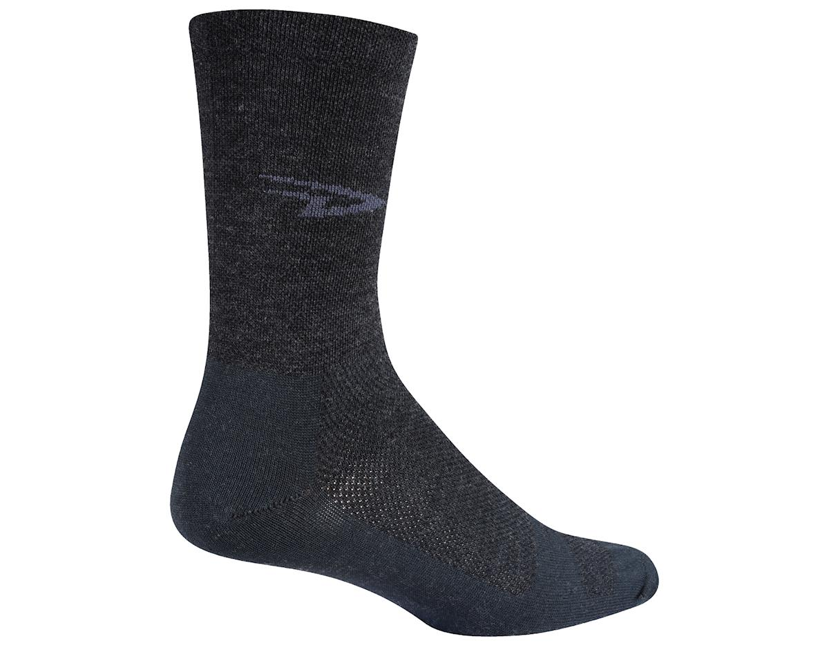 "DeFeet Wooleator 5"" D-Logo Sock (Charcoal Gray) (M)"