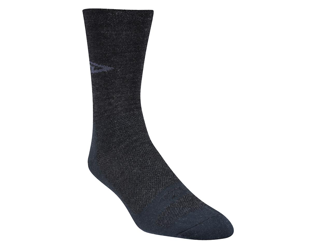 "DeFeet Wooleator 5"" D-Logo Sock (Charcoal Gray) (L)"