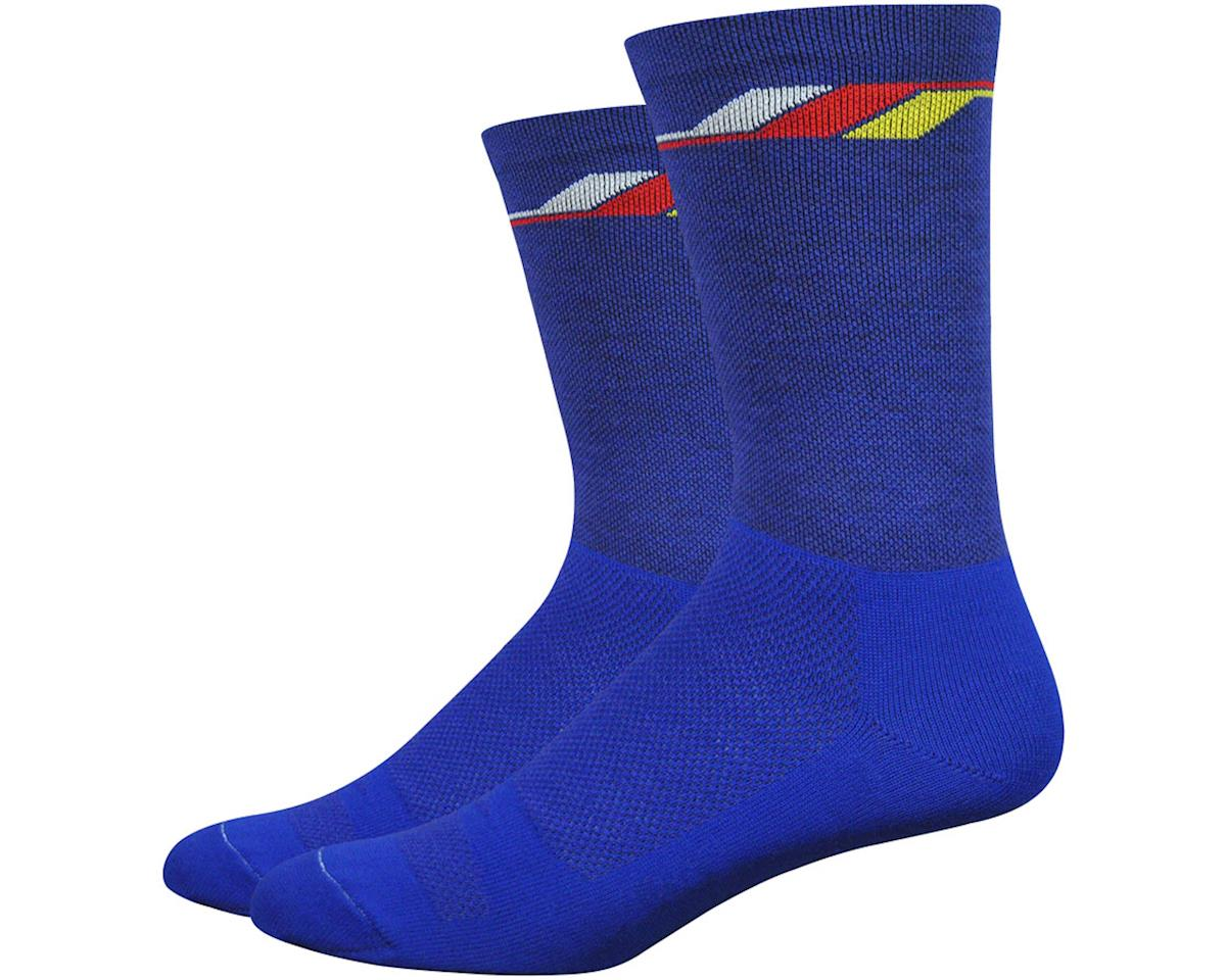 "DeFeet Wooleator Comp 6"" Yo Socks (Blue) (L)"