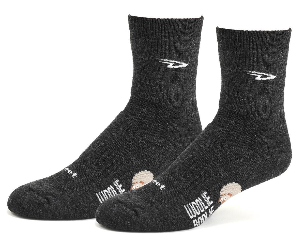 "DeFeet Woolie Boolie 4"" D-Logo Sock (Charcoal) (M)"