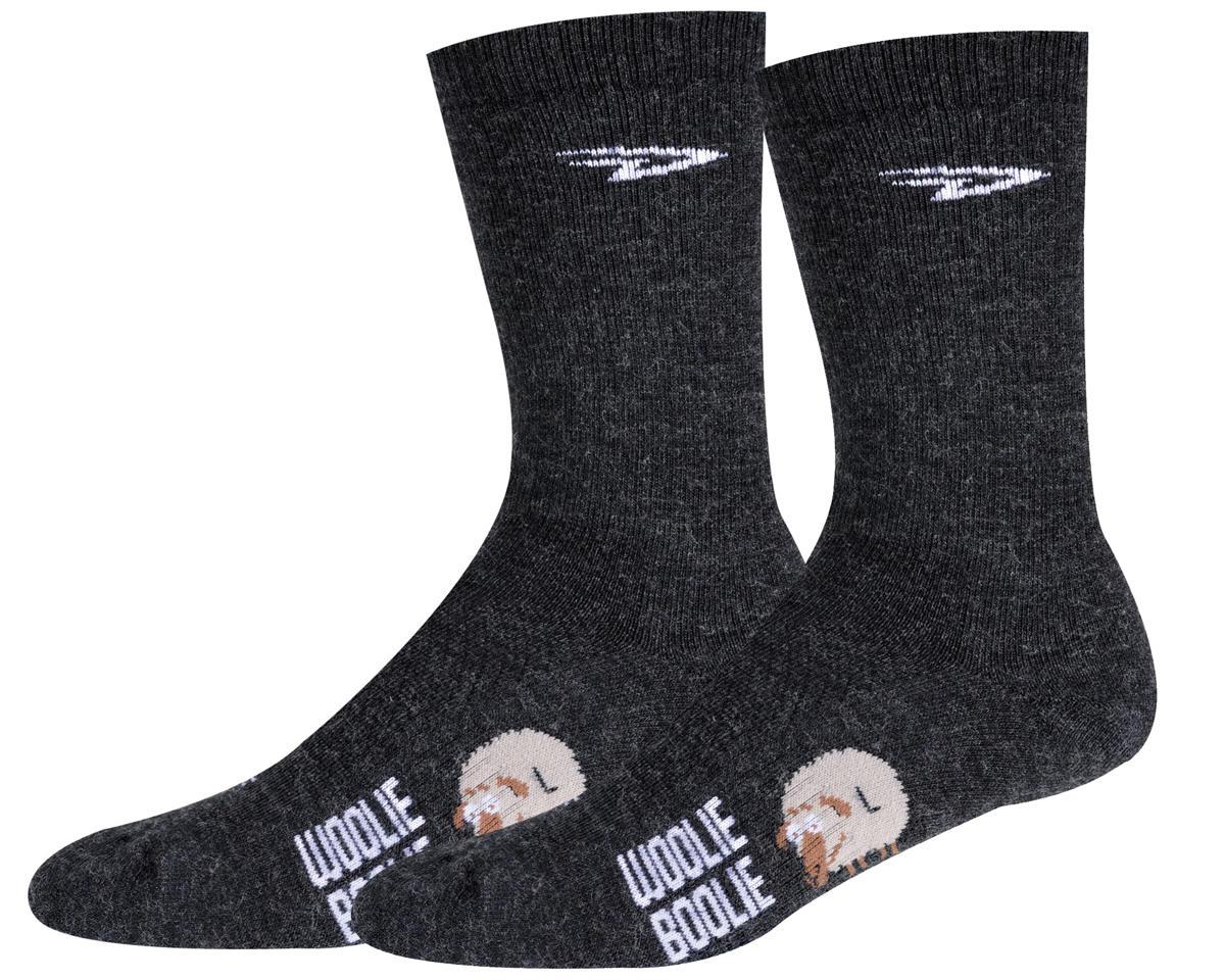 "DeFeet Woolie Boolie 6"" D-Logo Sock (Charcoal) (L)"