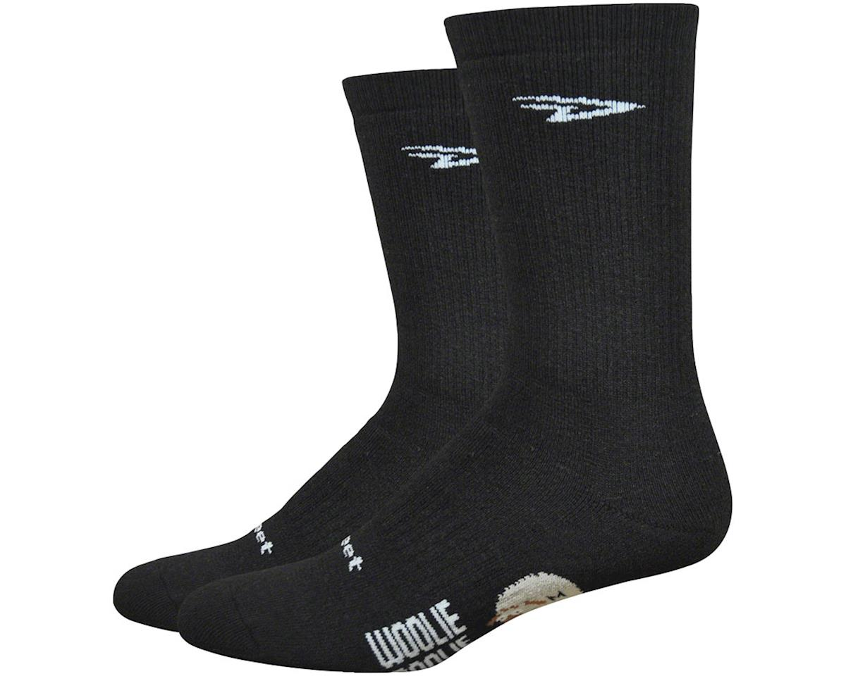 "DeFeet Woolie Boolie Comp 6"" D-Logo socks, black 7-9"