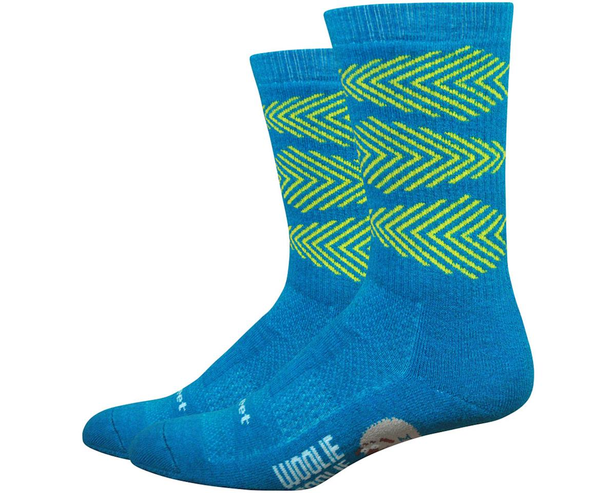 "DeFeet Woolie Boolie Comp 6"" Fishbone Socks (Blue) (M)"