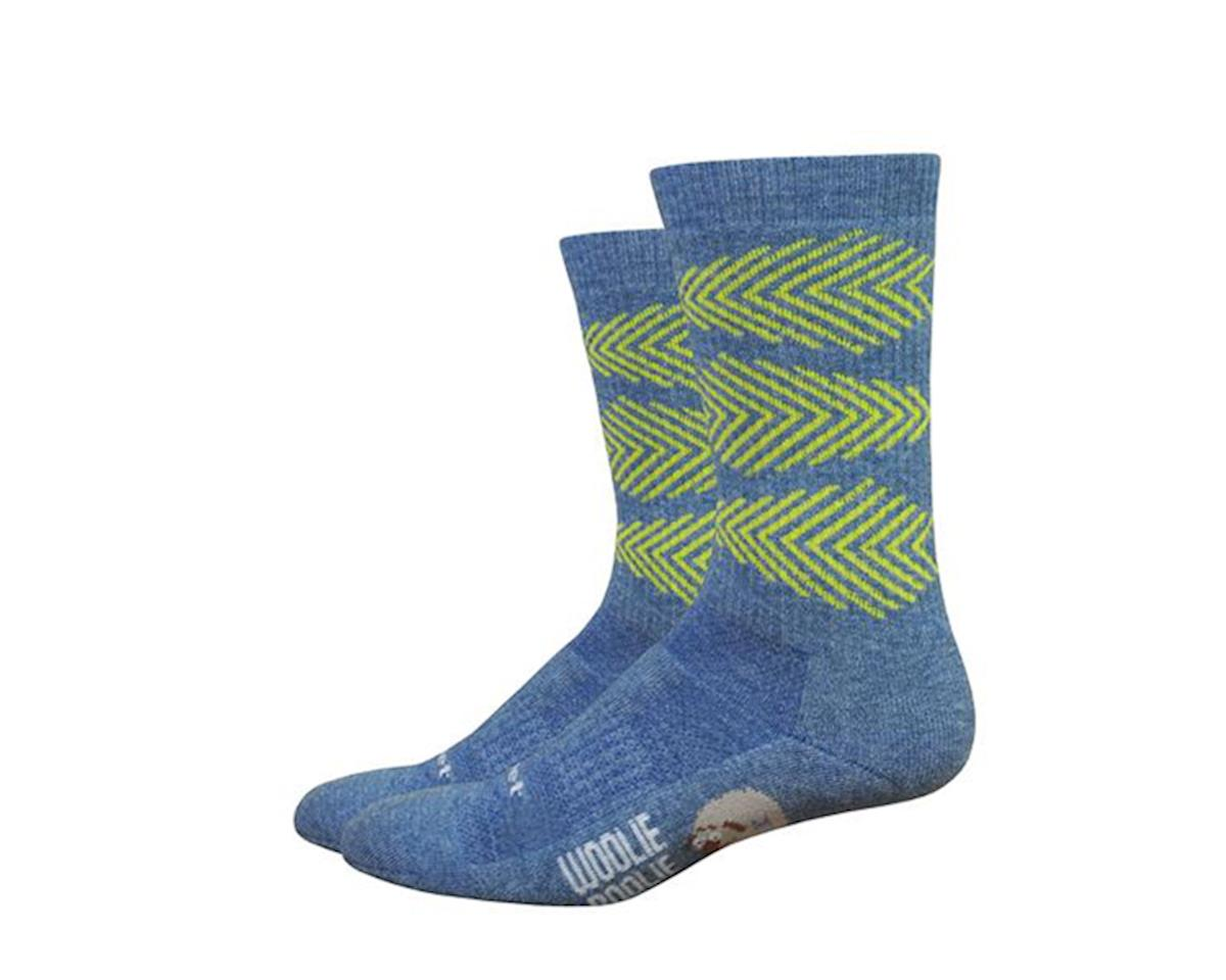 "DeFeet Woolie Boolie Comp 6"" Fishbone Socks (Blue) (L)"