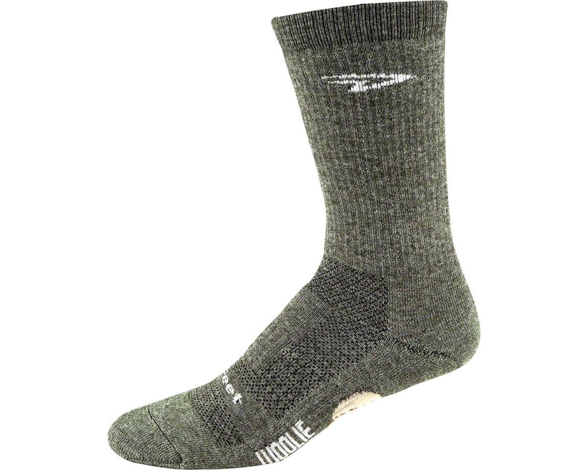 """DeFeet Woolie Boolie 6"""" Comp Sock (Loden Green) (XL)"""