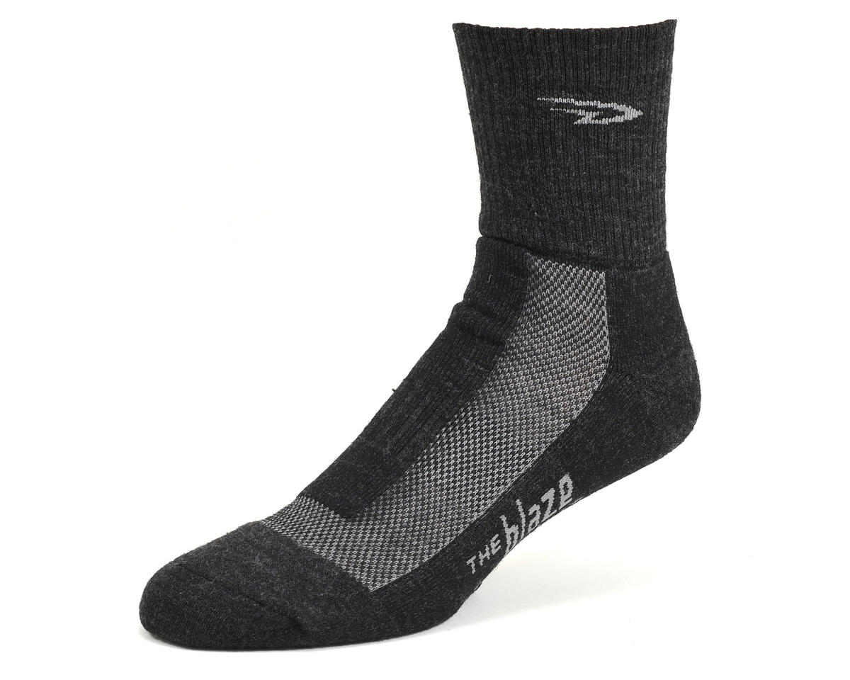 DeFeet Blaze Wool Sock (Charcoal/Gray) (L)