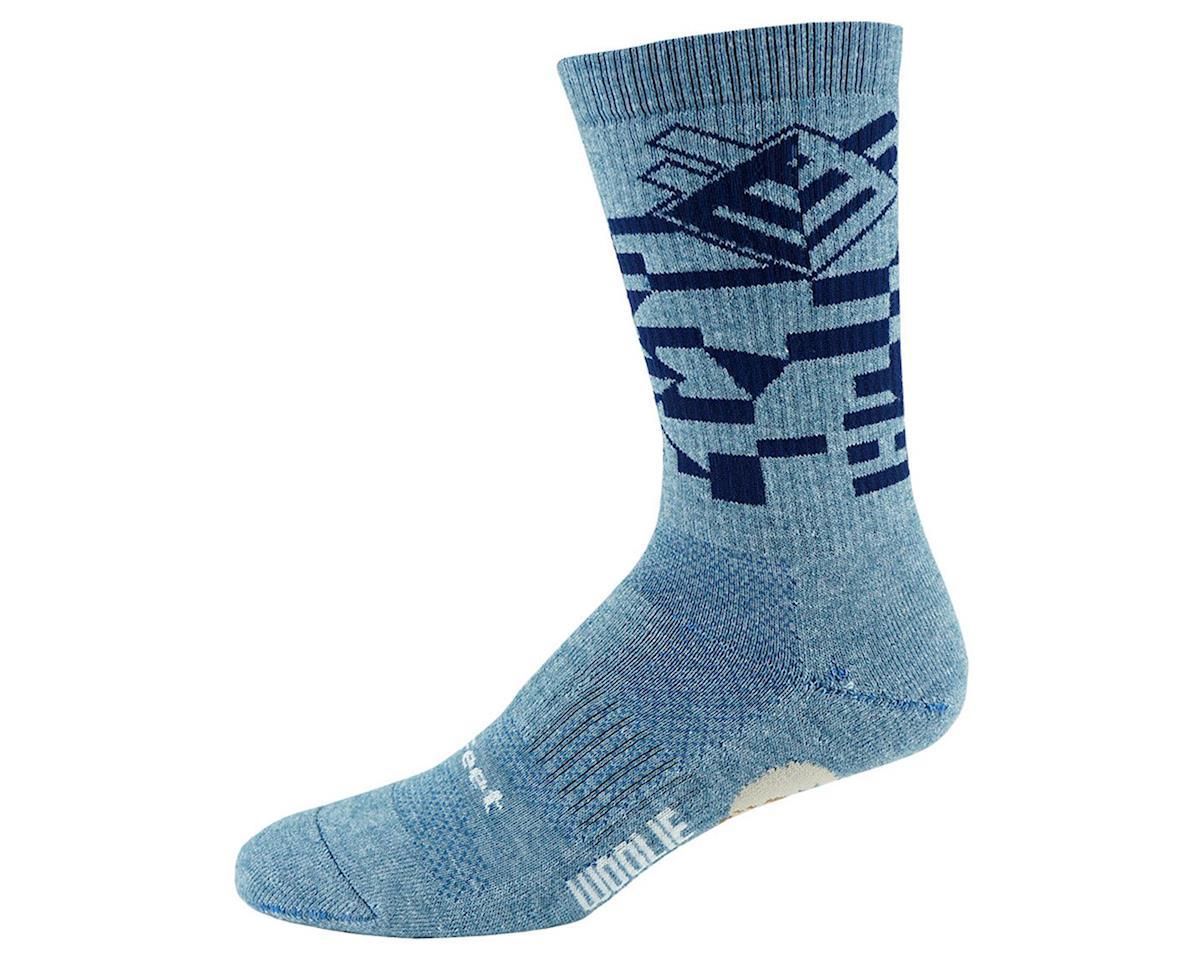 DeFeet Woolie Boolie Comp Socks (Razzle/Sapphire Blue) (L)