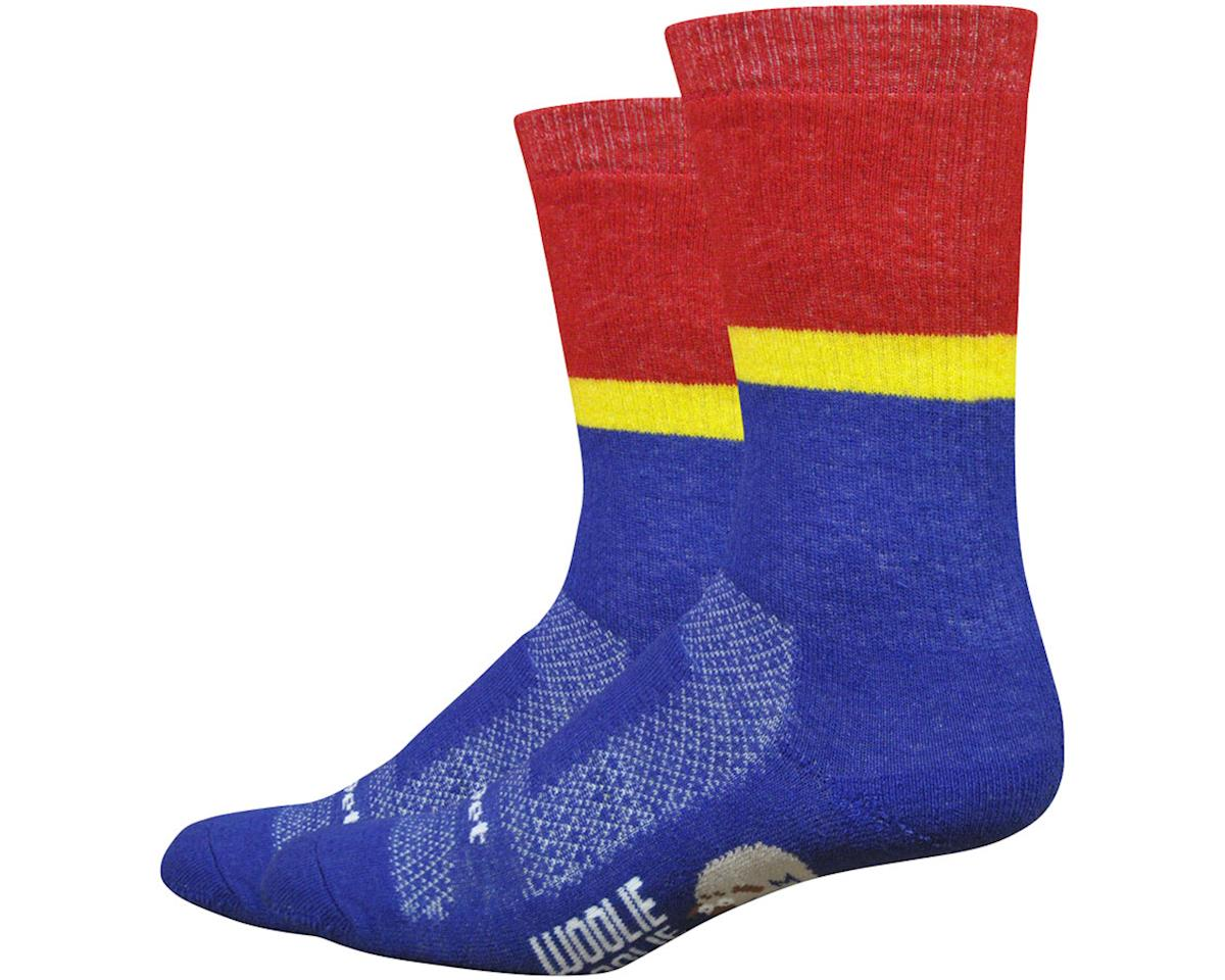 "DeFeet Woolie Boolie Comp 6"" Rover socks (Blue) (XL)"