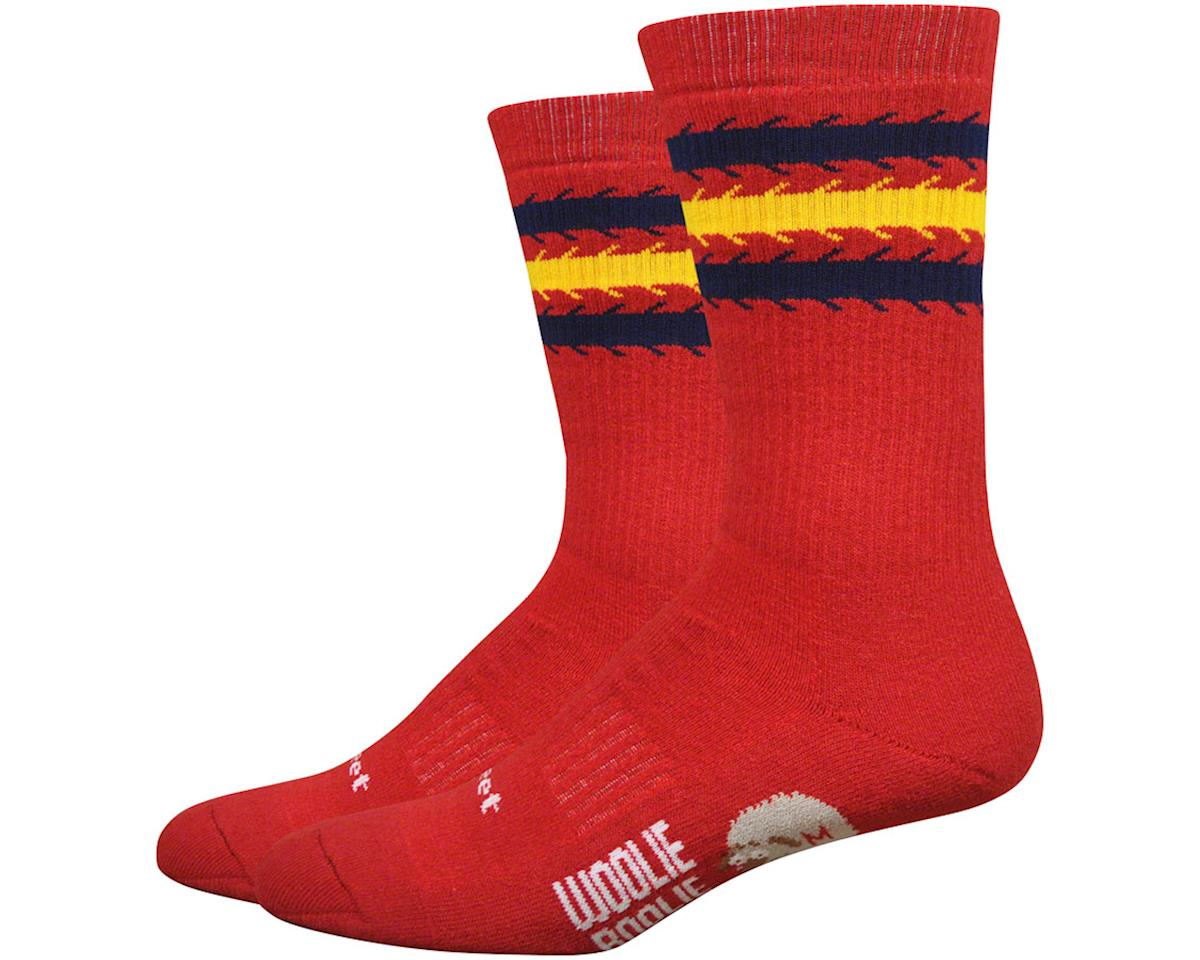 "DeFeet Woolie Boolie Comp 6"" Spirit Socks (Red) (XL)"