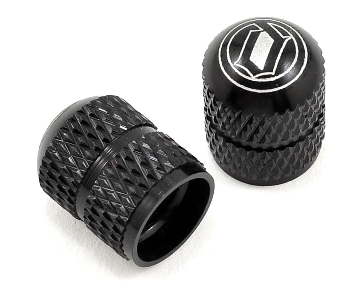 Deity Crown Schrader Valve Caps (Black)