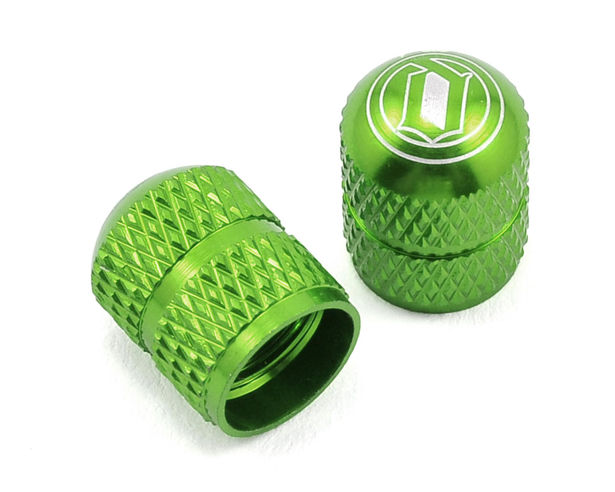 Deity Crown Schrader Valve Caps (Green)