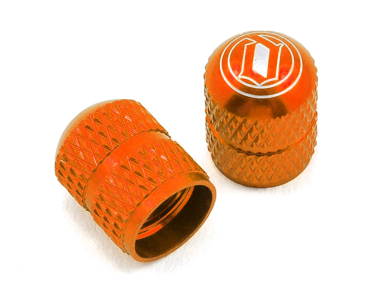 Crown Schrader Valve Caps- Orange