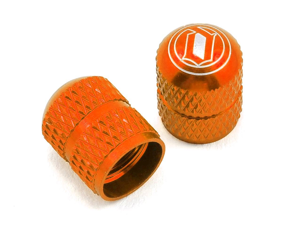 Deity Crown Schrader Valve Caps- Orange