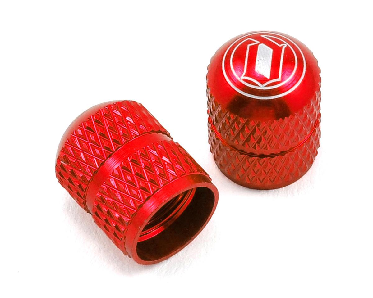Deity Crown Schrader Valve Caps (Red)