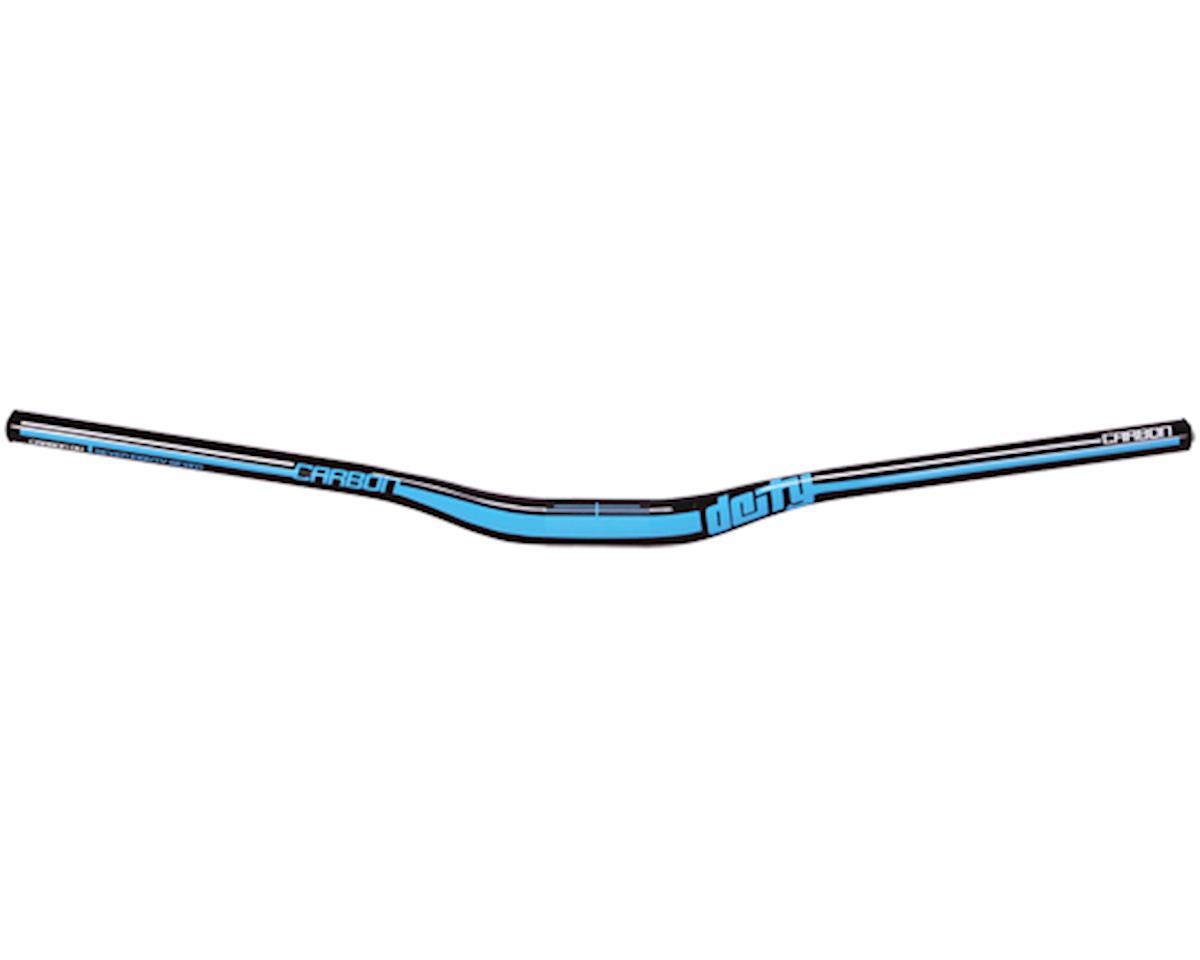 Deity DC31 Mohawk Carbon Handlebar-Gloss Black w/ Blue Graphics
