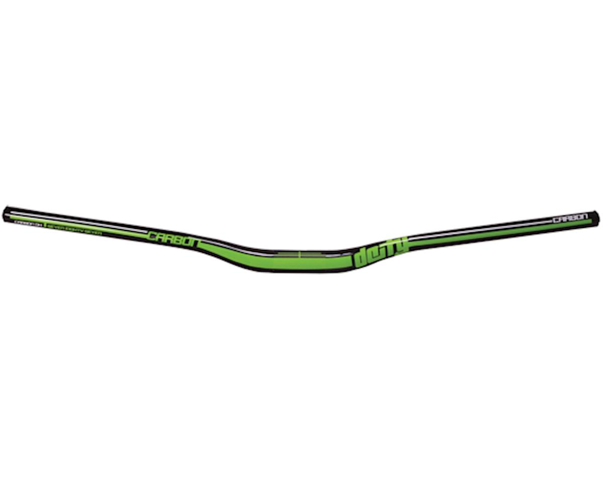 Deity DC31 Mohawk Carbon Handlebar-Gloss Black w/ Green Graphics