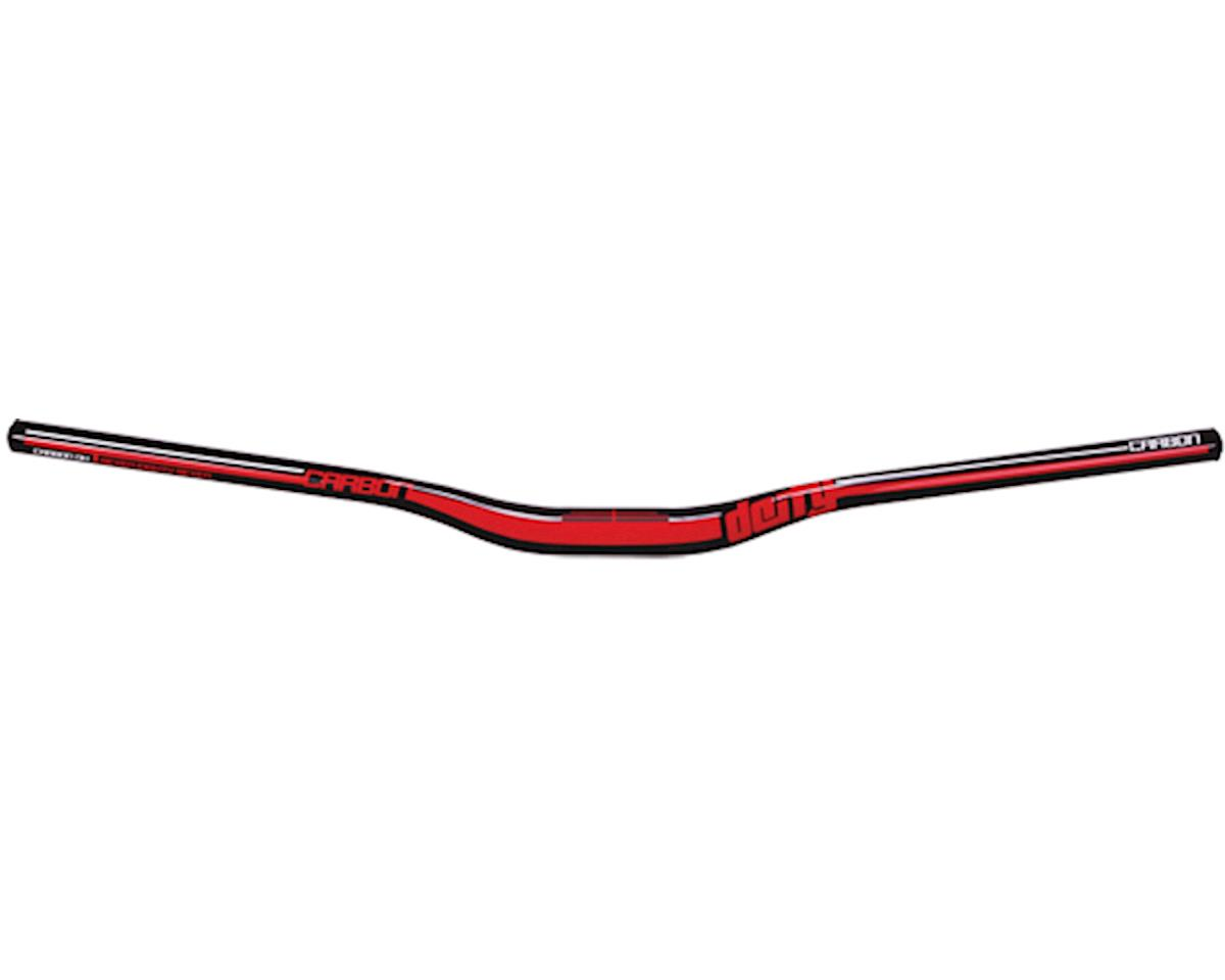 Deity DC31 Mohawk Carbon Handlebar-Gloss Black w/ Red Graphics