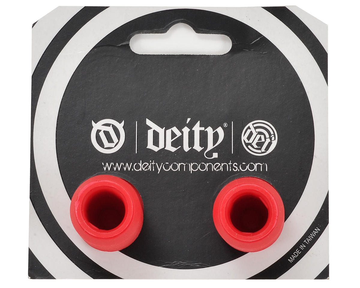 Deity Plunger Nylon End Plugs (Red)