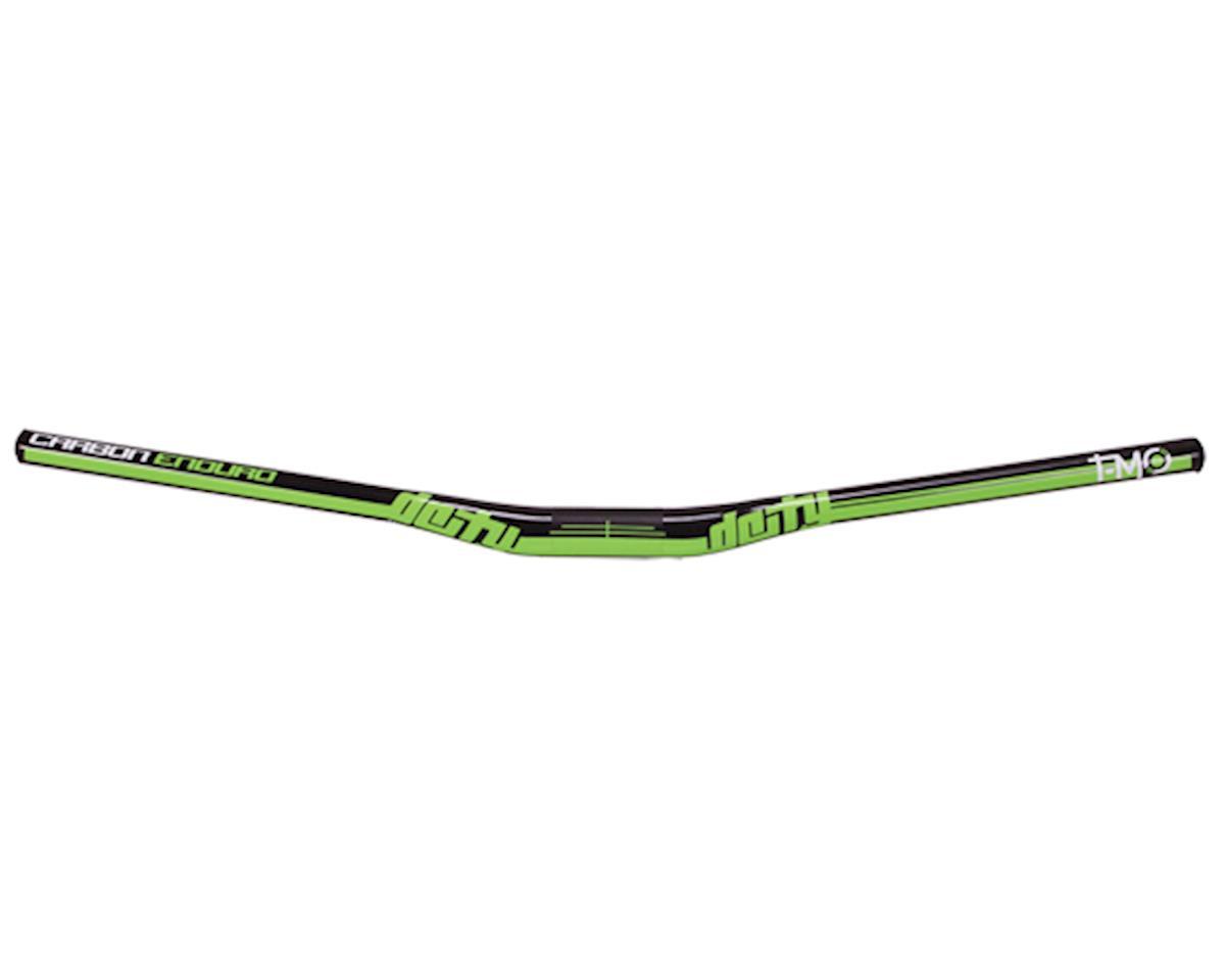 T-Mo Enduro Carbon Handlebar-Gloss Black w/ Green Graphics