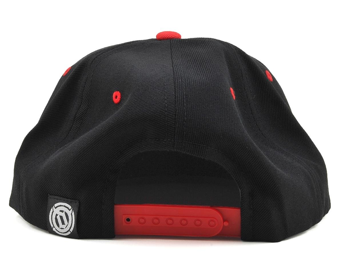 Deity 6 Panel Snap Back Hat (Black/Red) (One Size Fits Most)